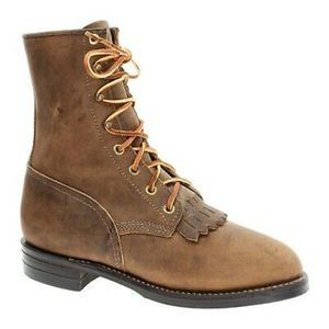 JUSTIN BOOTS Roper Lace Up Kiltie Leather Boot
